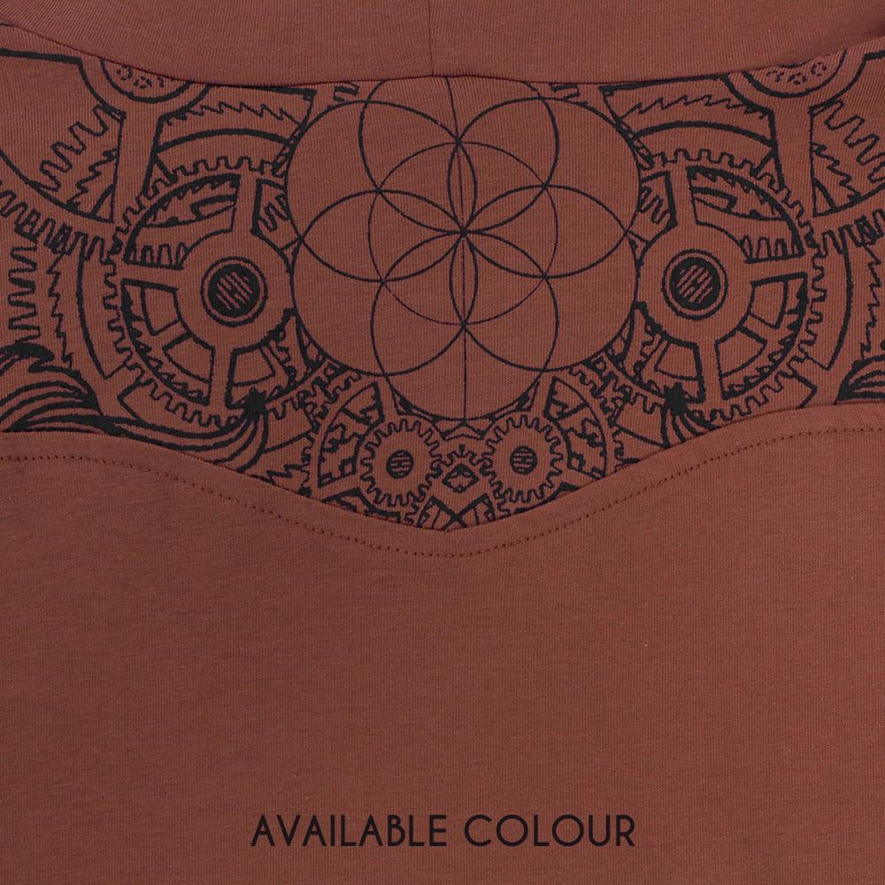 """Camiseta de mangas largas """"Floral Mach"""", Teja"""