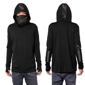 """Camiseta de mangas largas \""""Kusari\"""", Negro"""