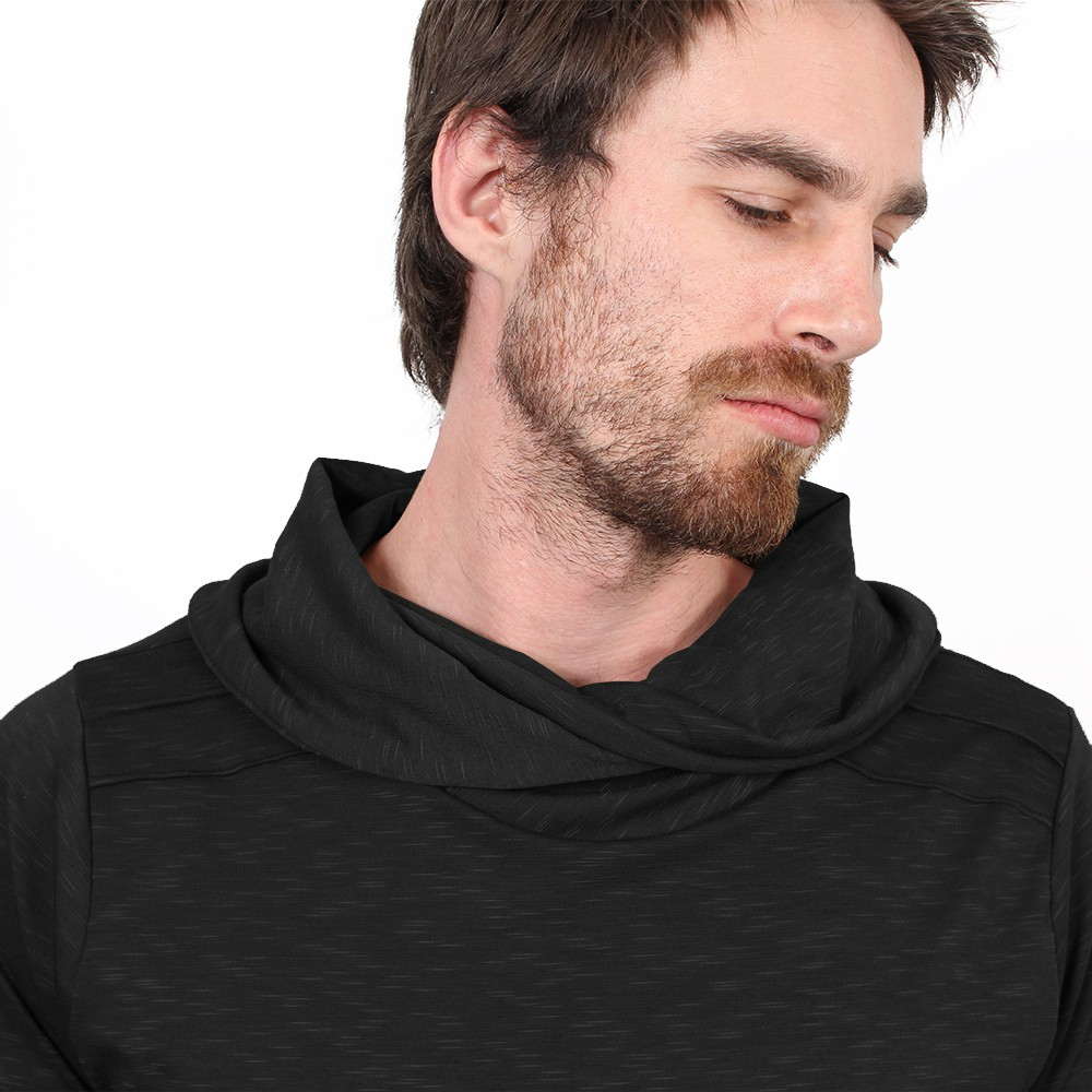 "Camiseta de mangas largas \""Moëkko\"", Negro"