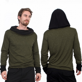 "Camiseta de mangas largas \""Nemöo\"", Verde caqui"