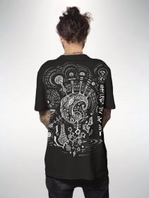 """Camiseta estampada \""""Ripple\"""", Negro"""