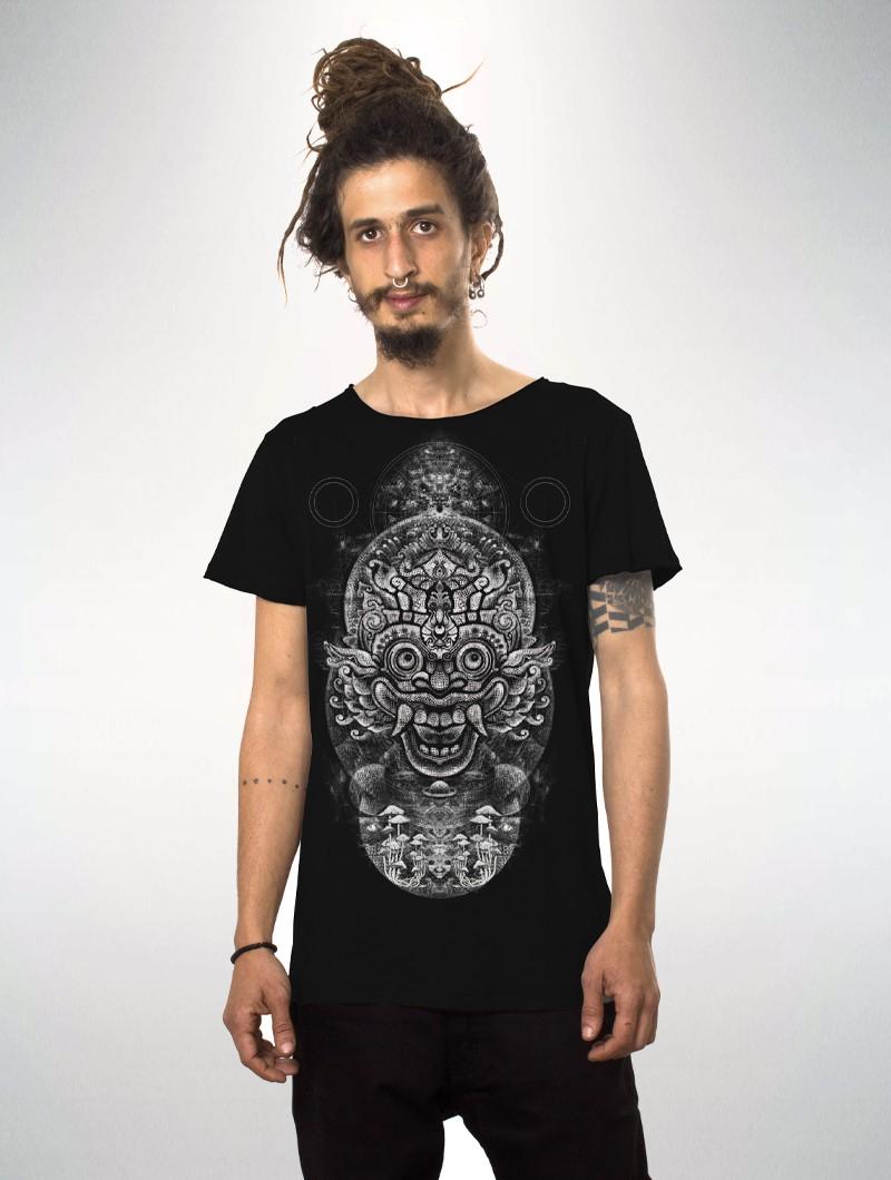 "Camiseta estampada de manga corta \""Edicaro\"", Negro"