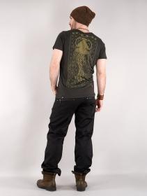 "Camiseta estampada de manga corta \""Tahara\"", Negro"