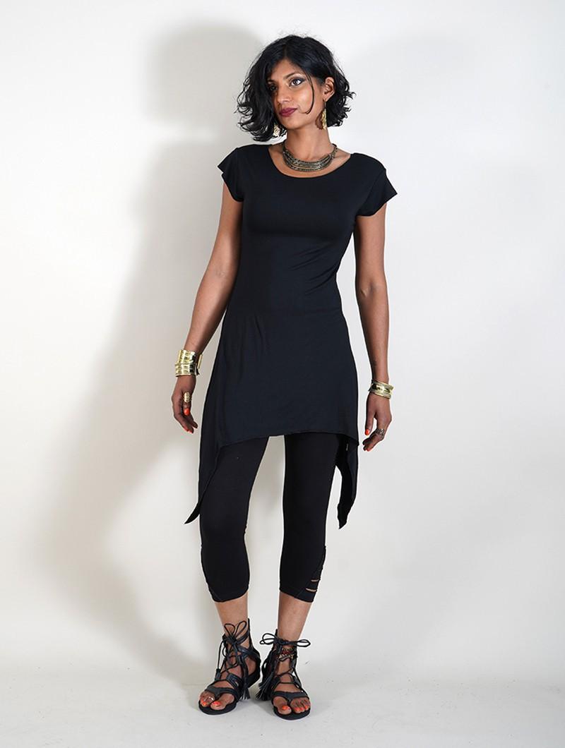 "Camiseta larga \""Lizéa\"", Negro"