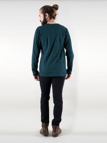 """Camiseta manga larga \""""Manora Bumi\"""", Azul petróleo"""