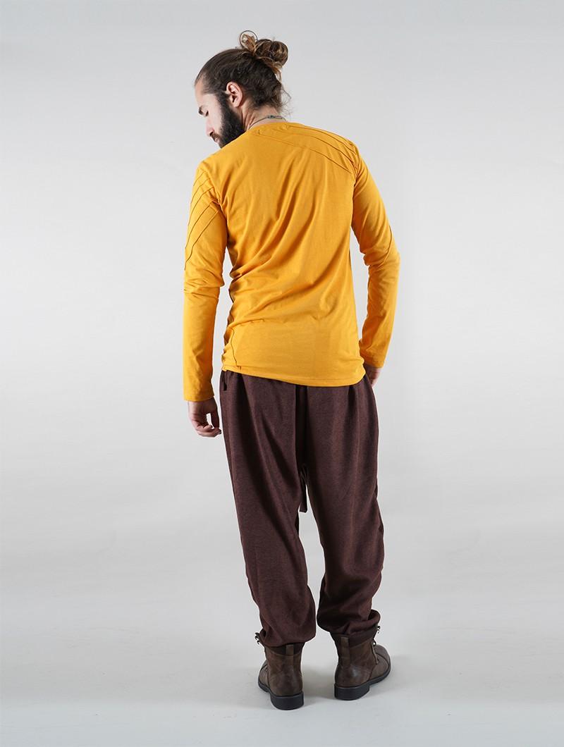 "Camiseta manga larga \""Vulcan\"", Mostaza"