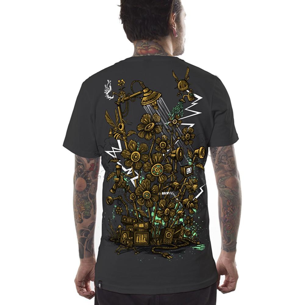 "Camiseta Plazmalab \""Sound garden\"", gris oscuro"