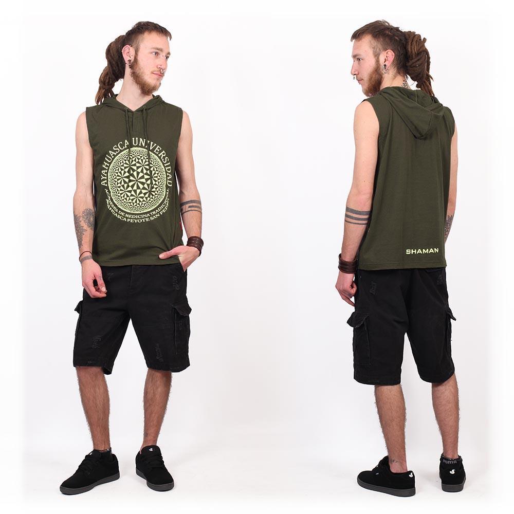"""Camiseta Shaman \""""Ayahuasca\"""", Verde caqui"""
