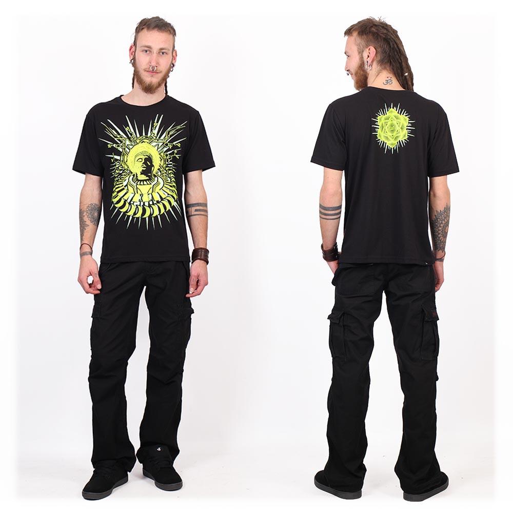 """Camiseta Shaman \""""Buddha DMT\"""", Negro"""