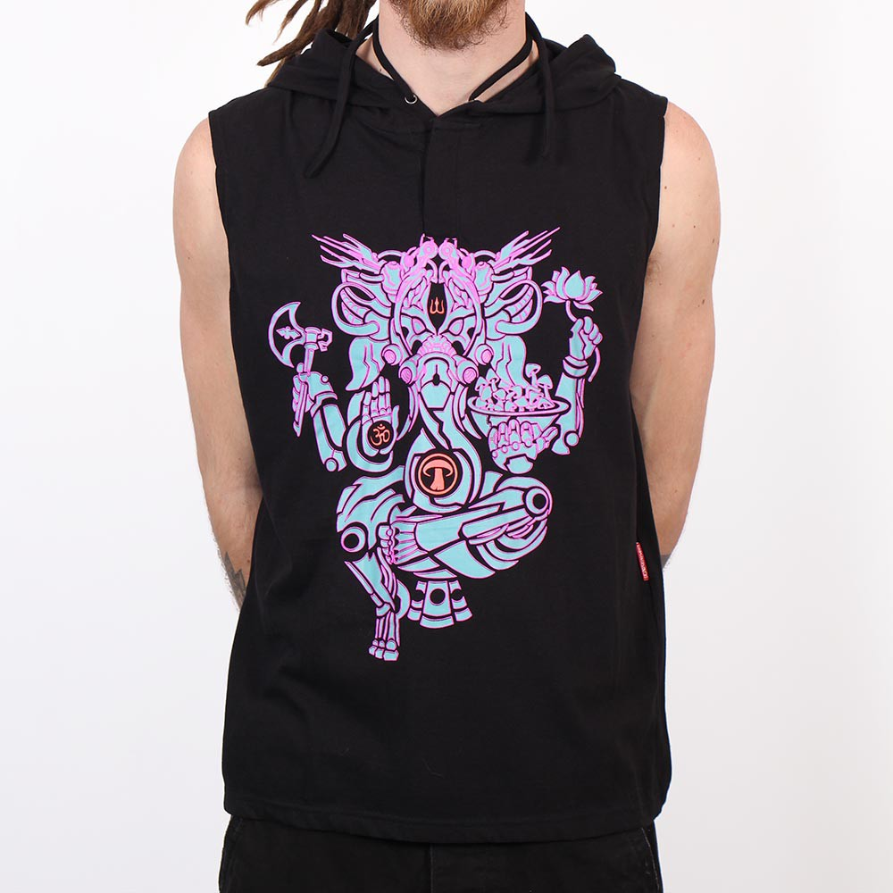 "Camiseta Shaman \""Ganesh Psylo\"", Negro"