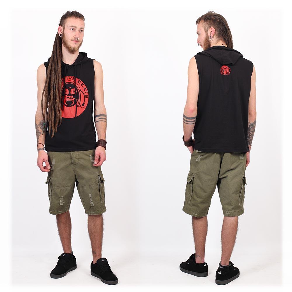 """Camiseta Shaman \""""Meditative Beats\"""", Negro"""