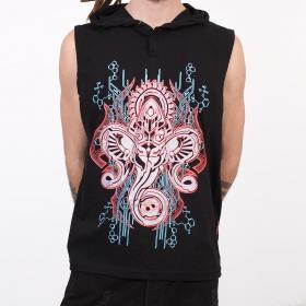 "Camiseta Shaman \""Molecules Cyber Ganesh\"", Negro"