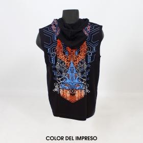 "Camiseta Shaman ""Trishula 3D"", Negro"