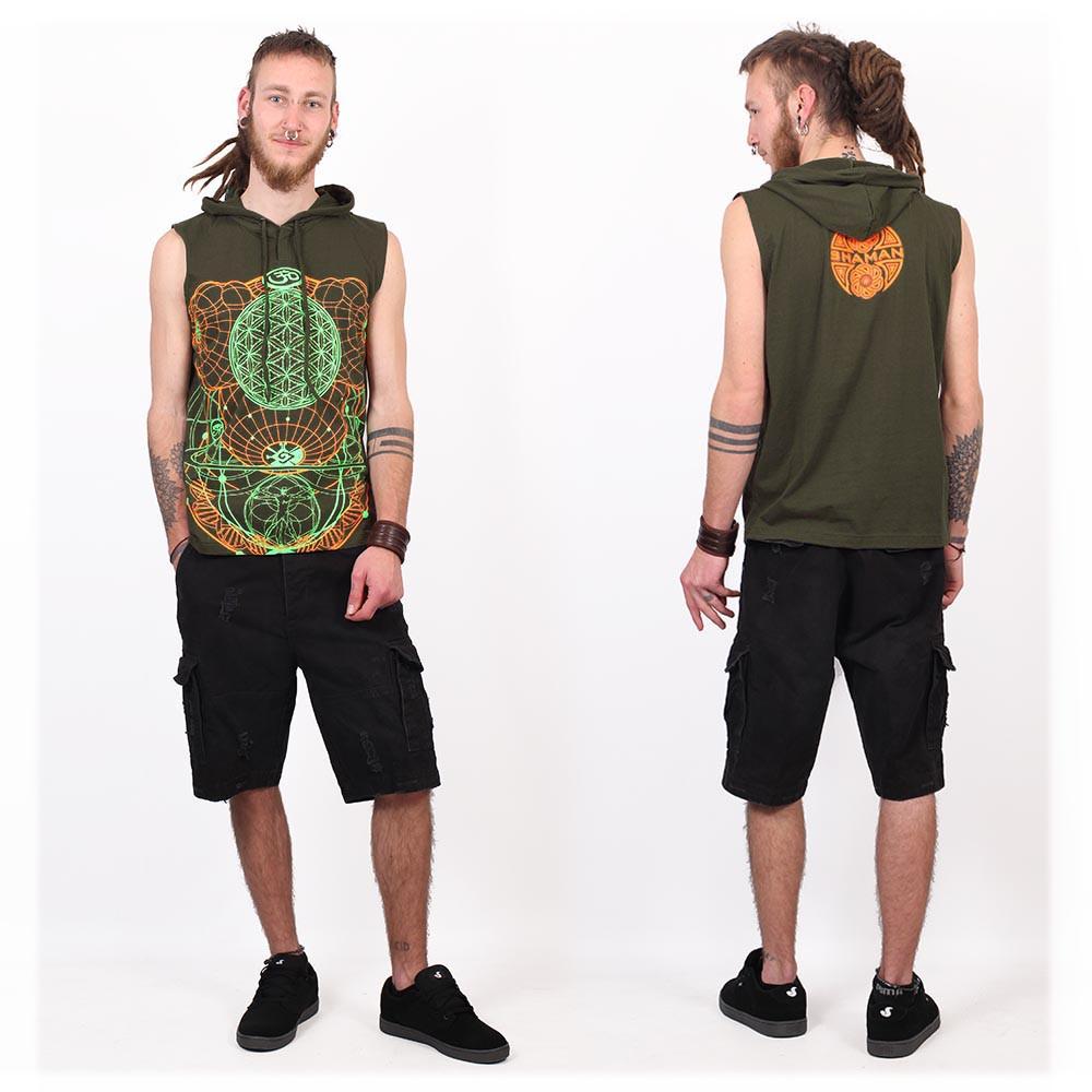 """Camiseta Shaman \""""WOL\"""", Verde caqui"""