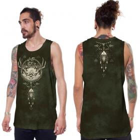 """Camiseta sin mangas \""""Dream Catcher\"""", Verde caqui descolorido"""