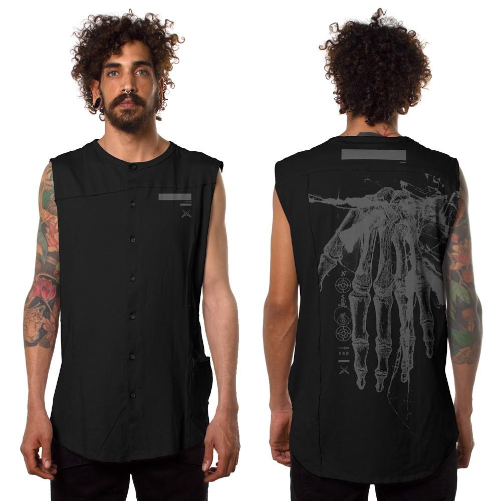 """Camiseta sin mangas \""""Flint\"""", Negro"""