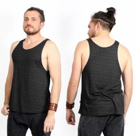 "Camiseta sin mangas \""Kinetic Shipibo\"", Gris oscuro"