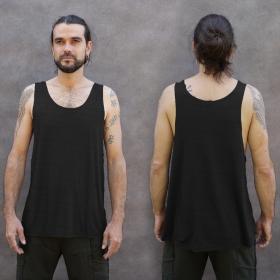 "Camiseta sin mangas \""Kinetic Shipibo\"", Negra y gris"