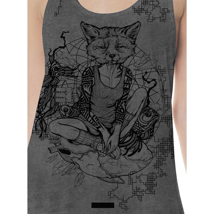 """Camiseta sin mangas \""""Milifox\"""", Moteado gris"""