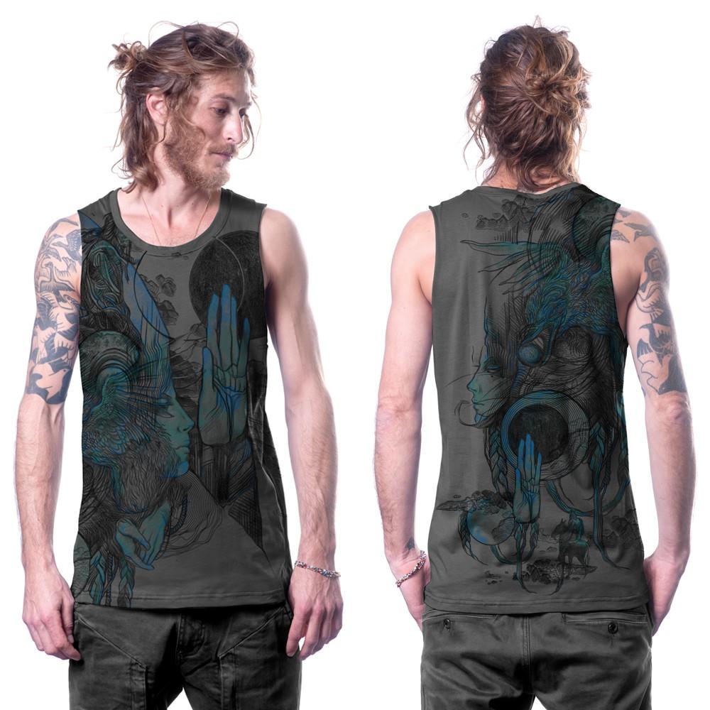 """Camiseta sin mangas \""""Sarmata\"""", Gris oscuro"""