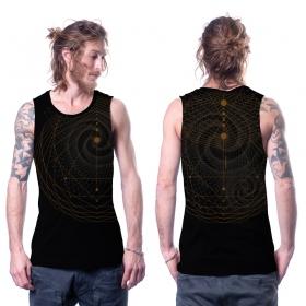 """Camiseta sin mangas \""""Spiral A\"""", Negro"""