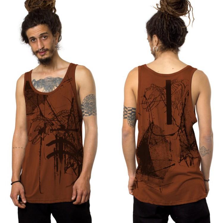 """Camiseta sin mangas \""""T-Rex\"""", Anaranjado"""