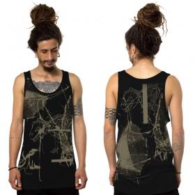 "Camiseta sin mangas \""T-Rex\"", Negro"
