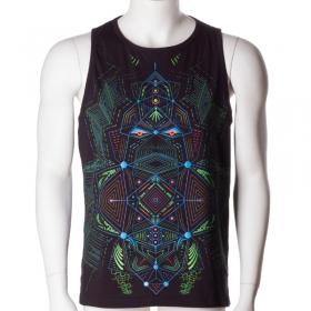 """Camiseta sin mangas UV \""""Multidimensional\"""", Negro"""