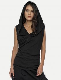 "Camiseta unisex con capucha \""Kuan\"", Negro"