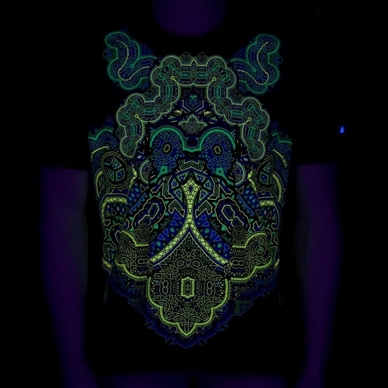 "Camiseta UV ""Incarnation\"", Negro"