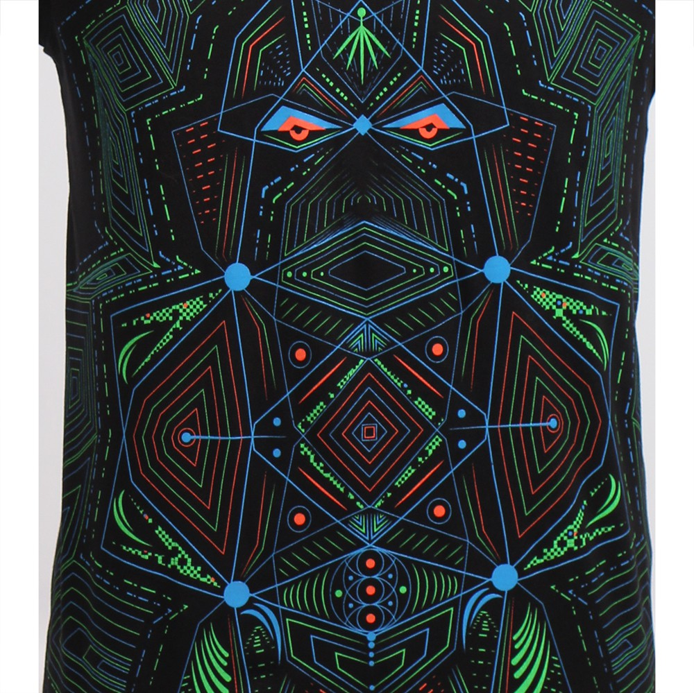 """Camiseta UV \""""Multidimensional\"""", Negro"""