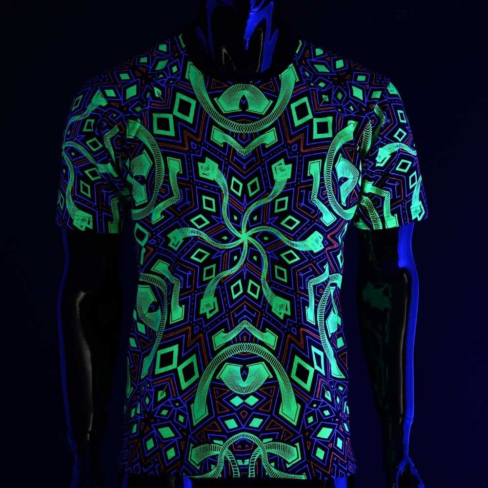 """Camiseta UV \""""Rhombus\"""", Negro"""