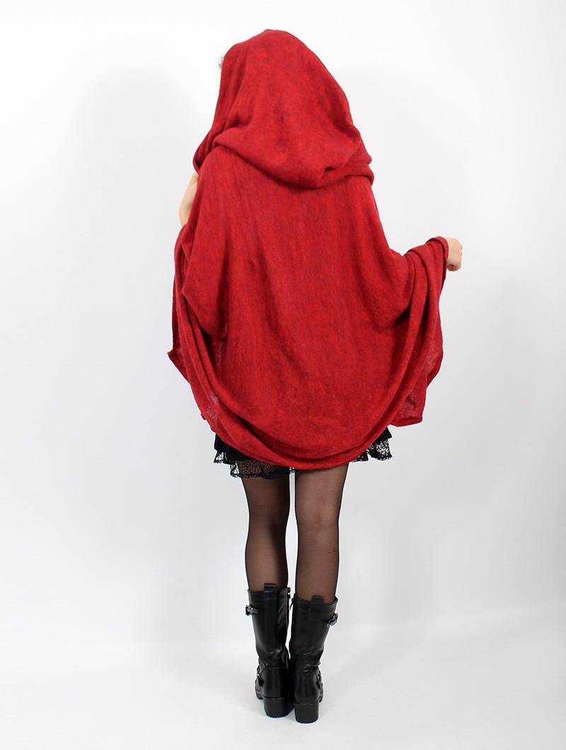 """Capa con capucha \""""Danae\"""", Rojo"""