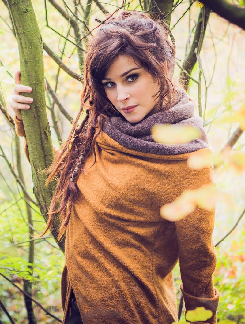 """Cárdigan \""""Adrika\"""", Color oxidó y marrón"""