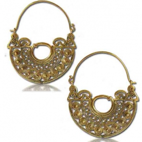 "\""chanda\\\"" brass earings"
