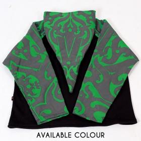 """Chaqueta con capucha puntiaguda \""""Anapa Iban Borneo\"""", verde y negra"""
