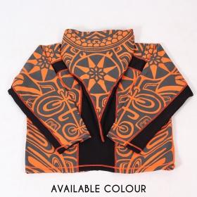 "Chaqueta con capucha puntiaguda \""Skywalker Haida\"", naranja y negra"