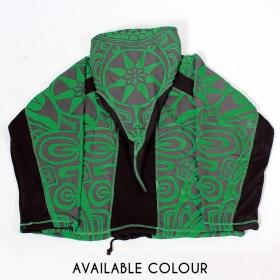 """Chaqueta con capucha puntiaguda \""""Skywalker Haida\"""", verde y negra"""