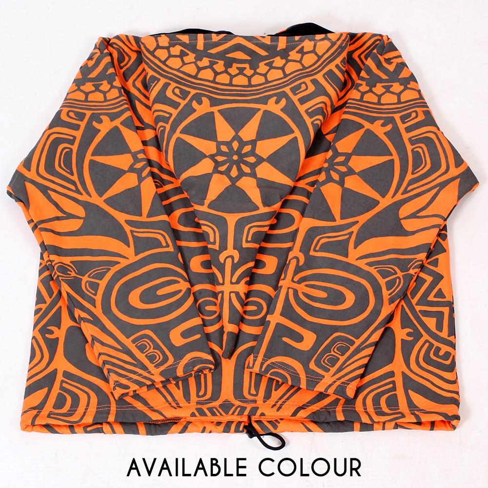 "Chaqueta con capucha tipo gnomo GadoGado \""Eimeo\"", naranja y negra"