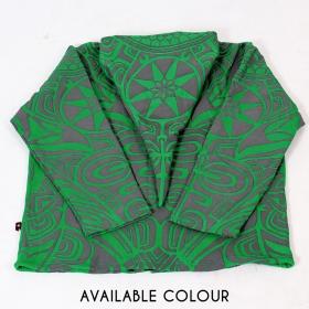 """Chaqueta con capucha tipo gnomo GadoGado \""""Heifara\"""", verde"""