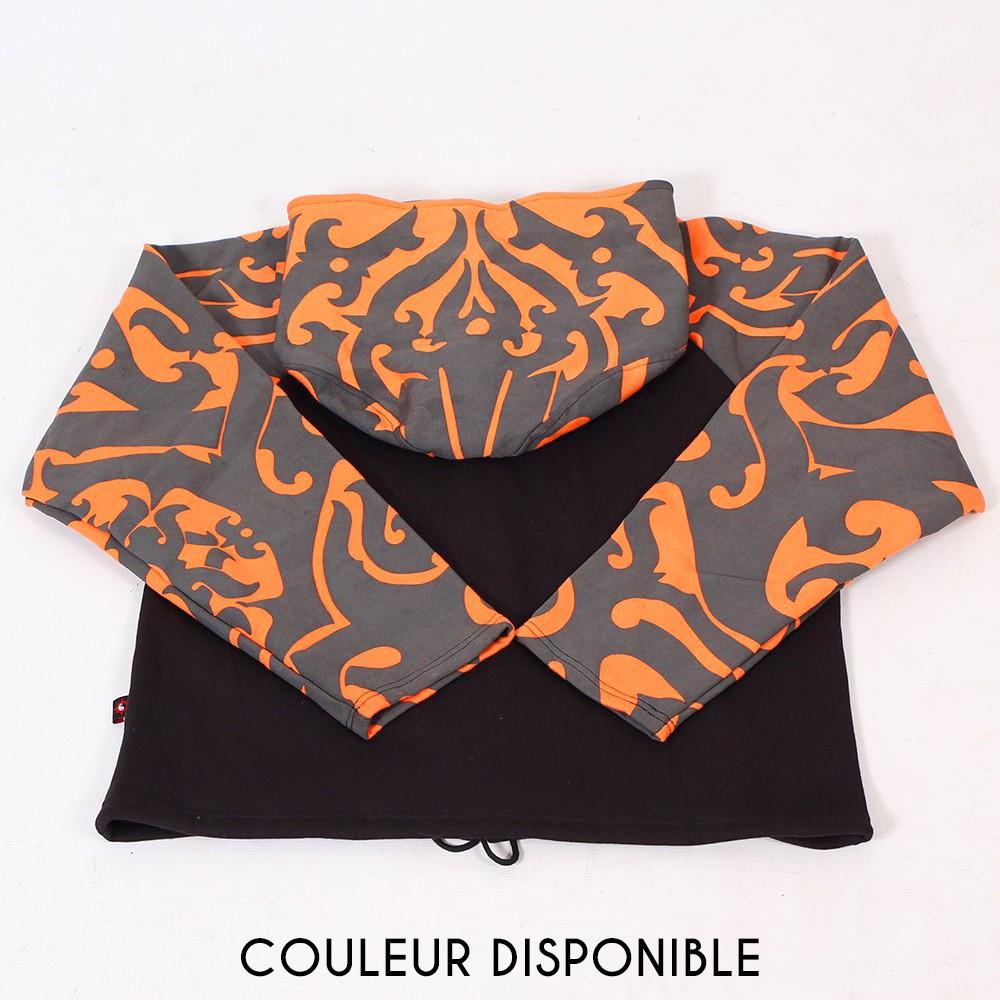 """Chaqueta con capucha tipo gnomo y mangas estampadas \""""Anapa\"""", naranja"""