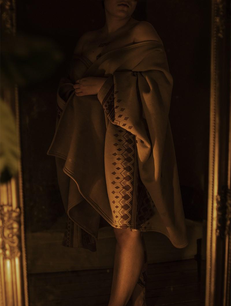 "Chaqueta kimono \""Melian\"", Beige"