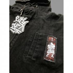 "Chaqueta zip sin mangas con capucha \""Shinanga\"", Negro"