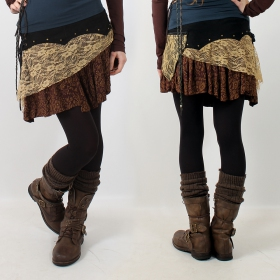 """Chimey\"" skirt, Black brown and beige"