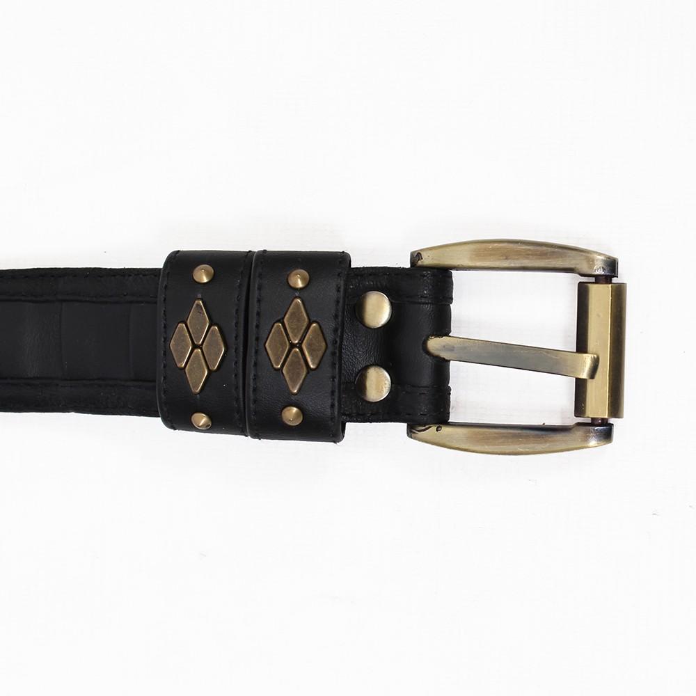 """Cintura \""""Equilibrium\"""", Cuero sintético negro"""