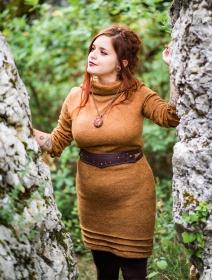 """Cintura \""""Kazöo\"""", Cuero sintético marrón con tachuelas y perlas doradas"""