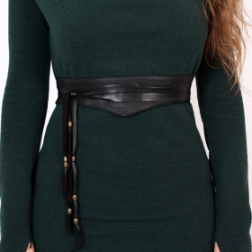 "Cintura \""Kazöo\"", Cuero sintético negro"