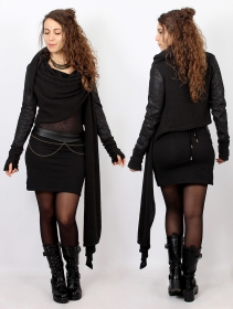 """Cintura \""""Moöna\"""", Cuero sintético negro"""
