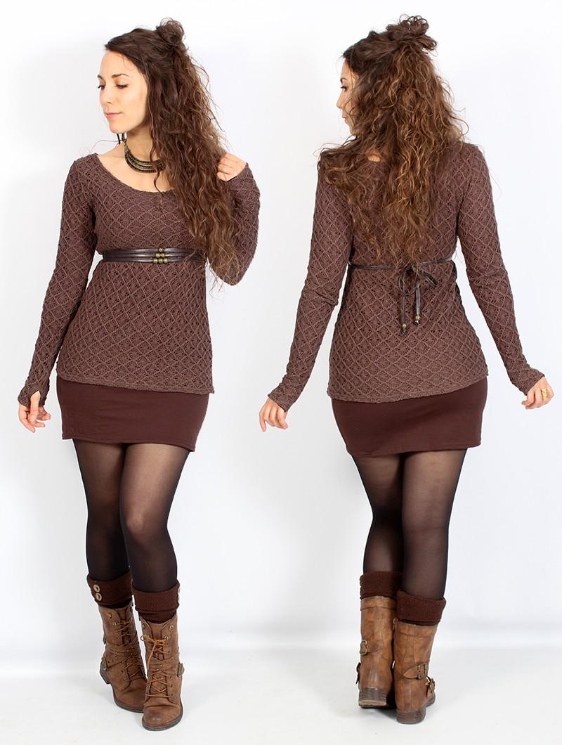 """Cintura \""""Nazaëe\"""", Cuero sintético marrón"""