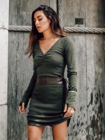 """Cintura \""""Oleyäa\"""", Cuero sintético marrón"""